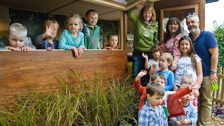 Golden Valley House Day nursery, new forest school cabin.