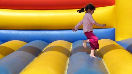 Nailsea Carnival. (Bouncy castle by Alison Oddy under CC BY-NC-SA 2.0)