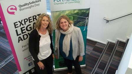 Victoria Hancock, of In Any Event and chamber president, with Jan Sefton from Quality Soclicitors Bu