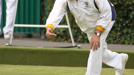 Gerald Barlow bowling for Clarence.