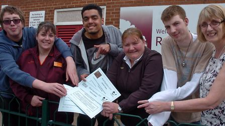 Ravenswood School Nailsea pupils who completed work experience showcase.
