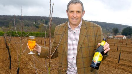 Martin Thatcher in his orchards at Myrtle Farm, Sandford.