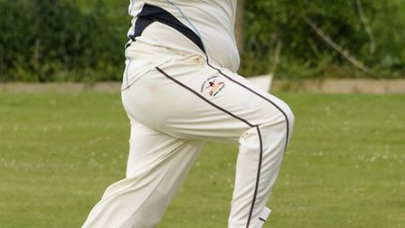 Tarquin Foukes bowling for Banwell.
