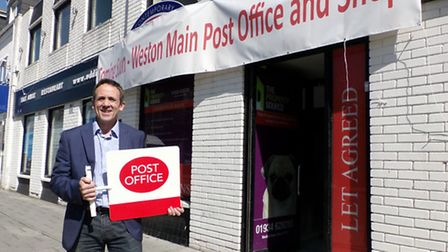 Gary Kirkman outside the new Post Office in Alexandra Parade.