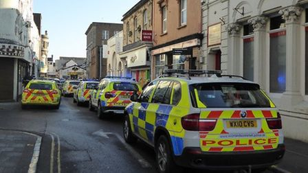 Police attended the scene in West Street.
