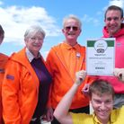 Portishead Open Air Pool volunteers Heather Pugh, Sue Jackson and Mike Pugh with manager James Totte