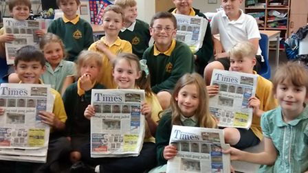 The publicity group at Trinity Primary School