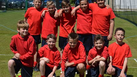 Grove Junior School's year five cricket team who came second in the North Somerset tournament.