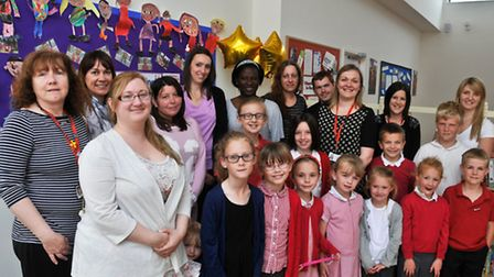 Yeo Moor Primary School, Clevedon pupils re-launching countre bullying policy.