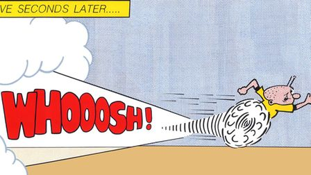 Horace Panter's artwork Whoosh features The Beano's Billy Whizz. Picture: Horace Panter