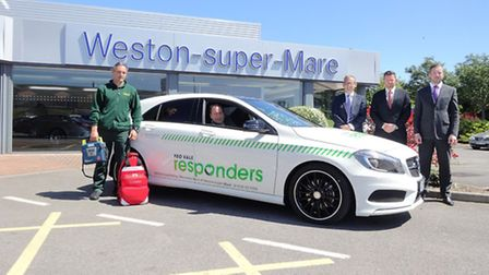 The Yeo Vale Responders collected the A-Class from Mercedes-Benz in Weston.