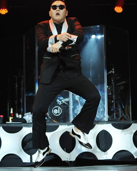 Psy performs at the Washington DC Jingle Ball concert at the Patriot Center in Fairfax, Virginia in