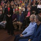 Fiona Bruce introduces Question Time in Winchester. Photograph: BBC.