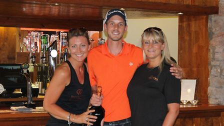 Winner Neil Morris with theclub staff Debbi Lough and Claire Madge.
