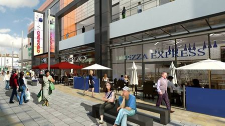 An artist's impression of the Dolphin Square development.