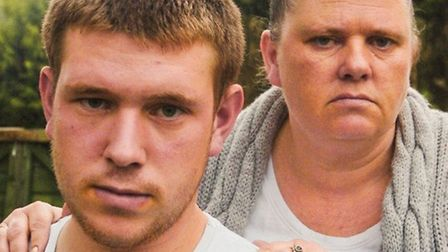 Aaron Hunt and his mother Alison Jenkins.