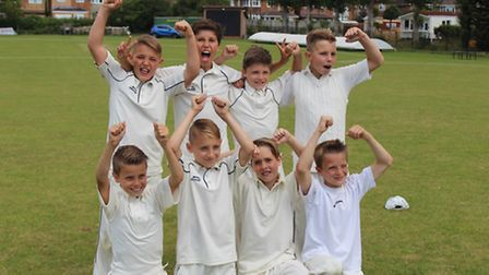 High Down Junior School's year five side came fifth in the county.