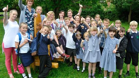 Official opening of new outdoor classroom at Kingshill Church School, Nailsea.
