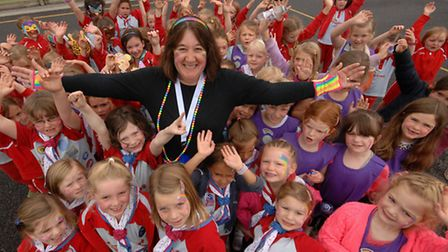 Rainbows from groups in Yatton, Congresbury, Wrington, Churchill and Blagdon took part in their firs