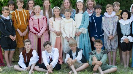 The cast of Romeo and Juliet from Fairfield School.