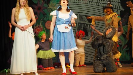 Fairytale characters from Backwell School's production for pupils.