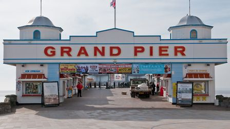 The Grand Pier, on Weston seafront.