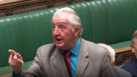 "Dennis Skinner claims Theresa May is offering ""bribes"" to Labour MPs in return for Brexit votes. Pho"