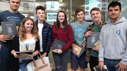 Charlie Tace, Alisha Bessant, Kyran Underhill, Fraser Pitcher, James Littlefield and Hope Griffiths