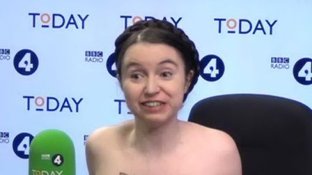 Dr Victoria Bateman, who has challenged Jacob Rees-Mogg to debate her on Brexit naked Pic: BBC Radio