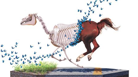 One of the featured artworks by Josh Keyes.