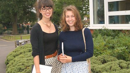 Abbie Taylor, who is off to Bristol University, and Ellie Grey who will be going to the University o