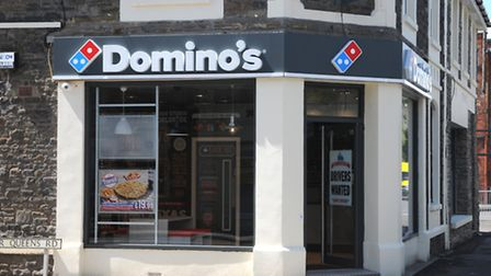 CLEVEDON - Dominos Pizza, 32 Old Church Road, 6NN - Stock image of the front of the store (LJ)25,07,
