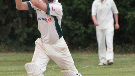 George Cox batting for Uphill.