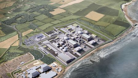 An artist's impression of the Hinkley Point C site.