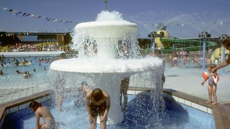 The fountain at the Tropicana in the 1980s. Photo by Weston Museum.