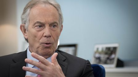 Former prime minister Tony Blair has warned of the dangers of a no-deal Brexit for Northern Ireland