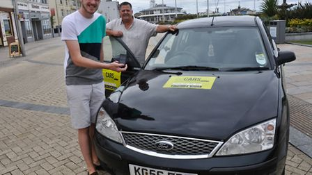 Mike James has set up a cab company with dad Gary.