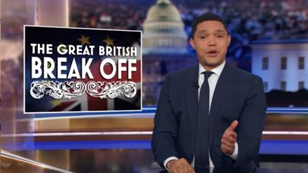 The Great British Break Off - The Daily Show mocks Brexit. Photograph: Comedy Central.