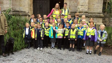 Mary Elton Primary School's visit to Clevedon Court.