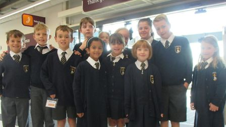 The children packed bags for customers at Sainsbury's.