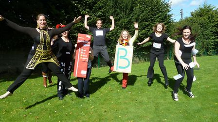 Teachers from Backwell School celebrating European Day of Languages,