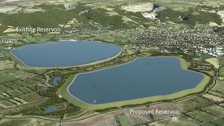 The proposed second reservoir.