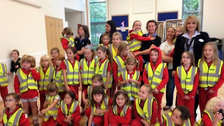 Portishead Rainbows were handed high-visibility jackets to help keep them safe.
