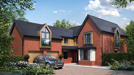 One of the new luxury homes which will be going on sale at the old hospital site in Barrow Gurney.