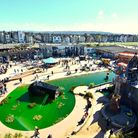 Dismaland from above.