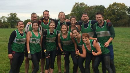 Employees from CableCom taking part in the Monster Race for Children's Hospice South West.