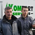 Andrew Wyatt with his son Ryan who have had two quad bikes stolen.