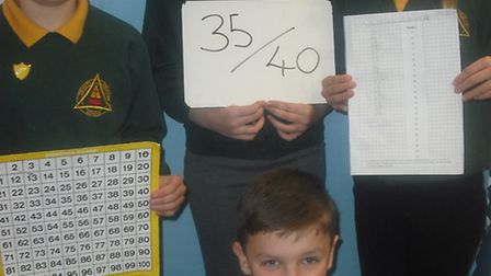 Stefan, Sam, Addy and Fiona impressed in the maths competition.