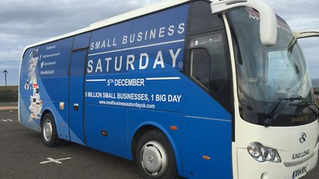 The Small Business Saturday coach will be in Weston-super-Mare today (Thursday),