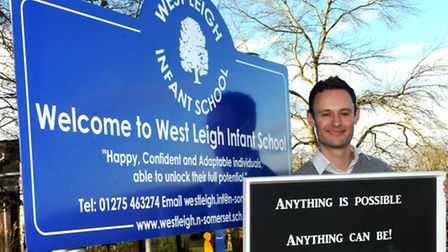 West Leigh Infants, Backwell. New headteacher Nick Webster. Photo by Jeremy Long.
